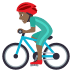 🚴🏾♂️ man biking: medium-dark skin tone Emoji on Joypixels Platform