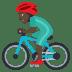 🚴🏿♂️ man biking: dark skin tone Emoji on Joypixels Platform