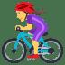 🚴♀️ woman biking Emoji on Joypixels Platform