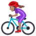 🚴🏽‍♀️ woman biking: medium skin tone Emoji on Joypixels Platform