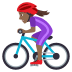 🚴🏾‍♀️ woman biking: medium-dark skin tone Emoji on Joypixels Platform