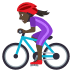 🚴🏿‍♀️ woman biking: dark skin tone Emoji on Joypixels Platform
