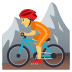 🚵 person mountain biking Emoji on Joypixels Platform