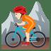 🚵🏻 person mountain biking: light skin tone Emoji on Joypixels Platform