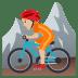🚵🏼 person mountain biking: medium-light skin tone Emoji on Joypixels Platform