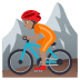 🚵🏽 person mountain biking: medium skin tone Emoji on Joypixels Platform