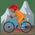 🚵🏾 person mountain biking: medium-dark skin tone Emoji on Joypixels Platform