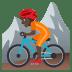 🚵🏿 person mountain biking: dark skin tone Emoji on Joypixels Platform