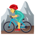 🚵‍♂️ man mountain biking Emoji on Joypixels Platform