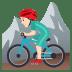 🚵🏻♂️ man mountain biking: light skin tone Emoji on Joypixels Platform