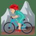 🚵🏼♂️ man mountain biking: medium-light skin tone Emoji on Joypixels Platform