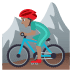 🚵🏽‍♂️ man mountain biking: medium skin tone Emoji on Joypixels Platform