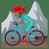 🚵🏾♂️ man mountain biking: medium-dark skin tone Emoji on Joypixels Platform