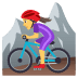 🚵‍♀️ woman mountain biking Emoji on Joypixels Platform