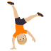 🤸🏼 person cartwheeling: medium-light skin tone Emoji on Joypixels Platform