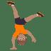 🤸🏽 person cartwheeling: medium skin tone Emoji on Joypixels Platform