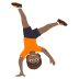 🤸🏾 person cartwheeling: medium-dark skin tone Emoji on Joypixels Platform