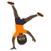 🤸🏿 Dark Skin Tone Person Cartwheeling Emoji on JoyPixels Platform