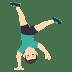 🤸🏻♂️ man cartwheeling: light skin tone Emoji on Joypixels Platform