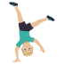 🤸🏼‍♂️ man cartwheeling: medium-light skin tone Emoji on Joypixels Platform
