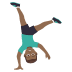 🤸🏾‍♂️ Medium Dark Skin Tone Man Cartwheeling Emoji on JoyPixels Platform