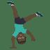 🤸🏿♂️ man cartwheeling: dark skin tone Emoji on Joypixels Platform
