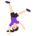 🤸🏻‍♀️ woman cartwheeling: light skin tone Emoji on Joypixels Platform