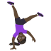 🤸🏿‍♀️ woman cartwheeling: dark skin tone Emoji on Joypixels Platform