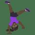 🤸🏿♀️ woman cartwheeling: dark skin tone Emoji on Joypixels Platform