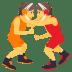🤼 people wrestling Emoji on Joypixels Platform