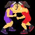 🤼♀️ women wrestling Emoji on Joypixels Platform