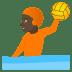 🤽🏿 person playing water polo: dark skin tone Emoji on Joypixels Platform