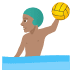 🤽🏽‍♂️ man playing water polo: medium skin tone Emoji on Joypixels Platform