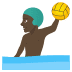 🤽🏿‍♂️ man playing water polo: dark skin tone Emoji on Joypixels Platform