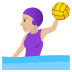 🤽🏼♀️ woman playing water polo: medium-light skin tone Emoji on Joypixels Platform