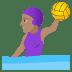 🤽🏽♀️ Medium Skin Tone Woman Playing Water Polo Emoji on JoyPixels Platform