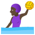 🤽🏿‍♀️ woman playing water polo: dark skin tone Emoji on Joypixels Platform