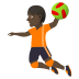 🤾🏿 person playing handball: dark skin tone Emoji on Joypixels Platform