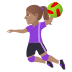 🤾🏽‍♀️ woman playing handball: medium skin tone Emoji on Joypixels Platform