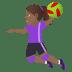 🤾🏾♀️ woman playing handball: medium-dark skin tone Emoji on Joypixels Platform