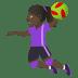 🤾🏿♀️ woman playing handball: dark skin tone Emoji on Joypixels Platform