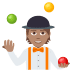 🤹🏽 person juggling: medium skin tone Emoji on Joypixels Platform