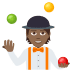 🤹🏾 person juggling: medium-dark skin tone Emoji on Joypixels Platform