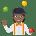 🤹🏾 Medium Dark Skin Tone Person Juggling Emoji on JoyPixels Platform