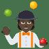 🤹🏿 person juggling: dark skin tone Emoji on Joypixels Platform
