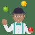 🤹🏽♂️ man juggling: medium skin tone Emoji on Joypixels Platform
