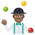 🤹🏾‍♂️ man juggling: medium-dark skin tone Emoji on Joypixels Platform