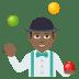 🤹🏾♂️ man juggling: medium-dark skin tone Emoji on Joypixels Platform