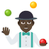 🤹🏿‍♂️ man juggling: dark skin tone Emoji on Joypixels Platform