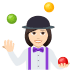 🤹🏻‍♀️ woman juggling: light skin tone Emoji on Joypixels Platform